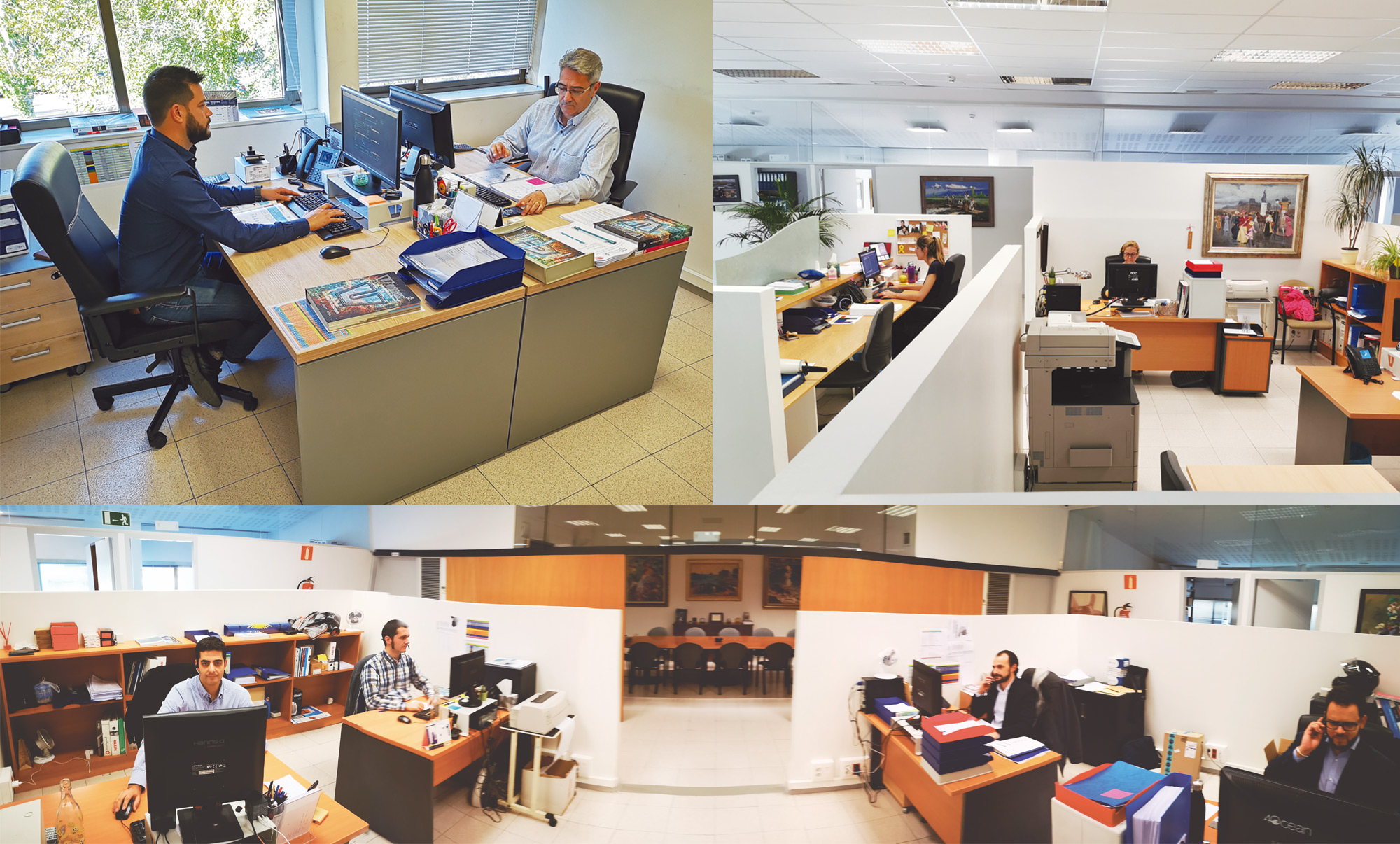 More than 400 m² of offices with our team: Commercial management, Technical team, Reception, Purchasing, Accounting …