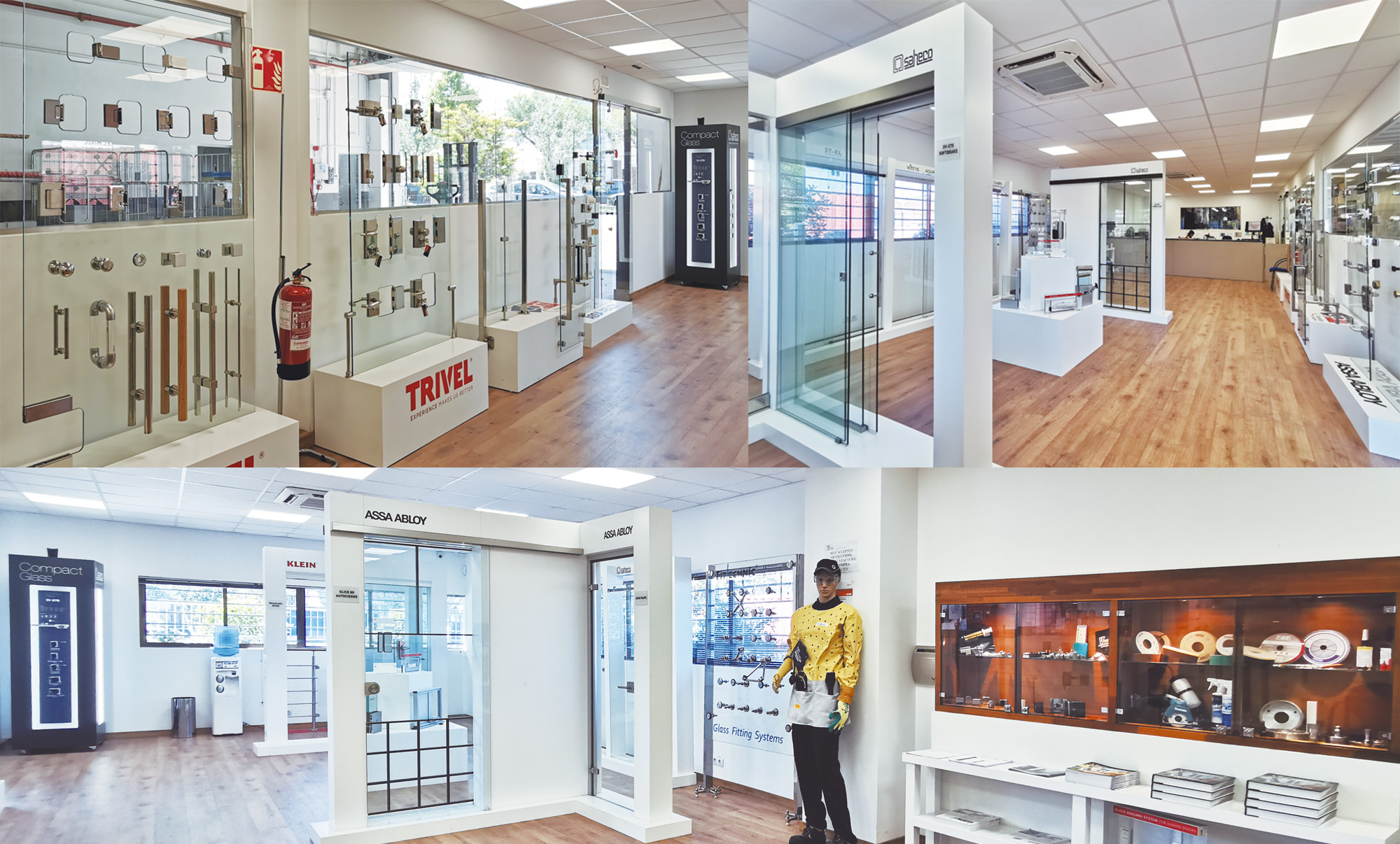 Vitrum's current showroom, with more than 120 m² to show the latest news and a wide selection of our products.
