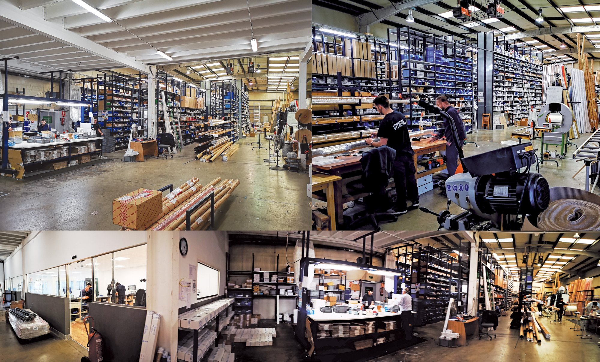 Our warehouses, a necessary change due to the continuous growth we have experienced in recent years.